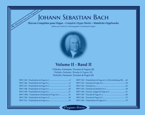 J.S. Bach œuvres complètes pour orgue, volume II
