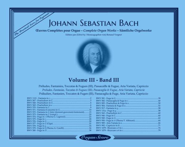 J.S. Bach œuvres complètes pour orgue, volume III