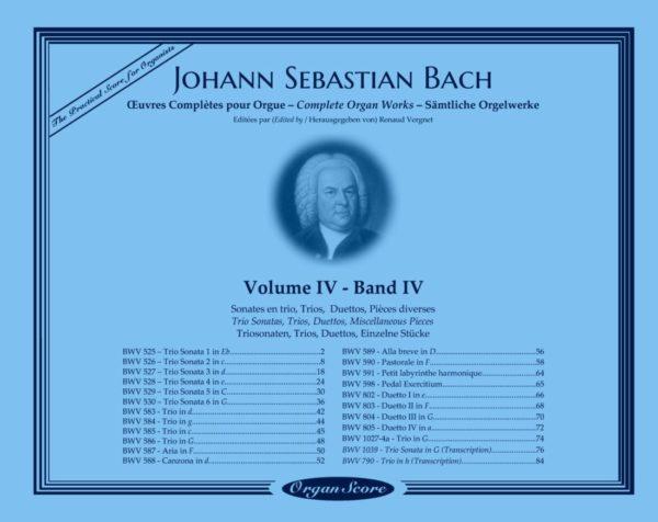 J.S. Bach œuvres complètes pour orgue, volume IV