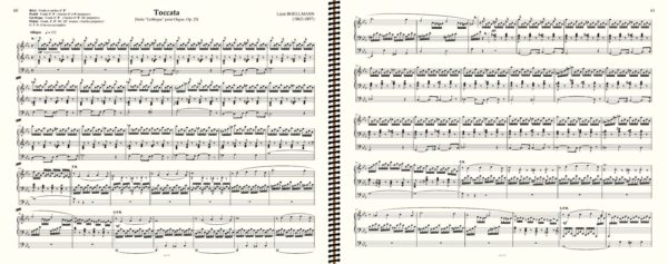 Boellmann Toccata (1 Page Turn only) - '18 Romantic & Symphonic Pieces'
