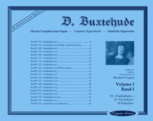 Buxtehude œuvres complètes pour orgue, volume I