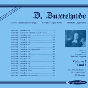 Buxtehude complete organ works, volume I