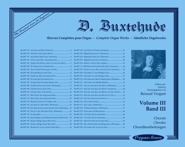Buxtehude œuvres complètes pour orgue, volume III