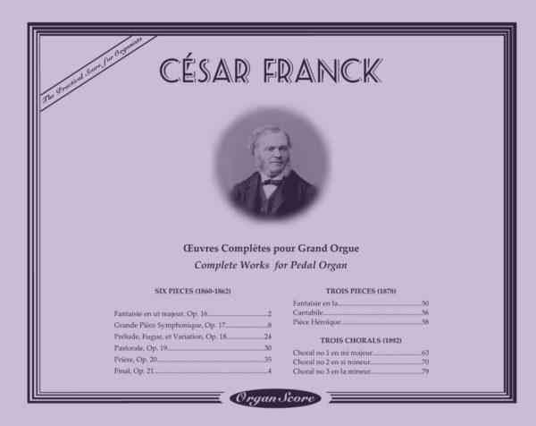 Franck œuvres complètes pour orgue