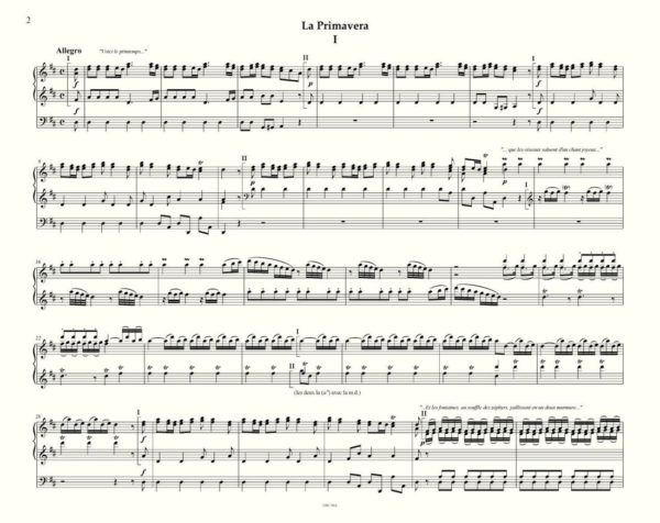 Vivaldi Primavera organ transcription by R. Vergnet - easy page turn