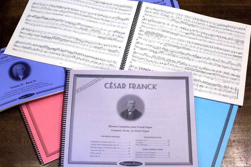 Edition OrganScore, une édition de qualité pour les organistes - Divers volumes (Bach, Franck, et autres).
