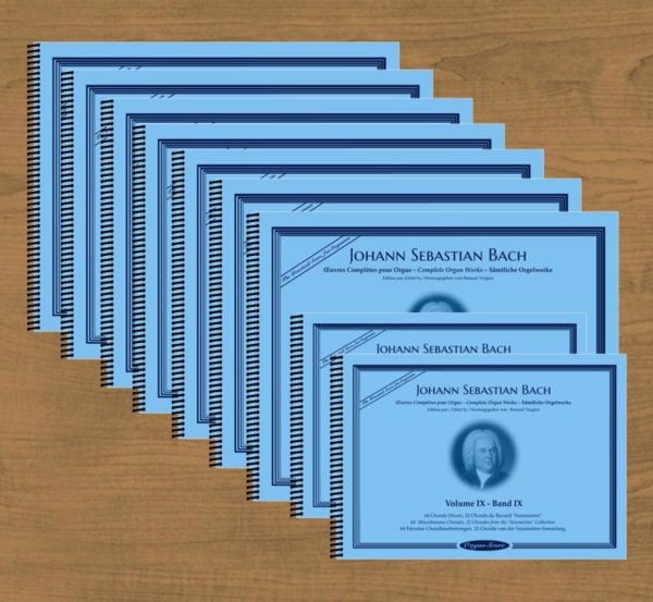 J.S. Bach complete organ works in 9 volumes