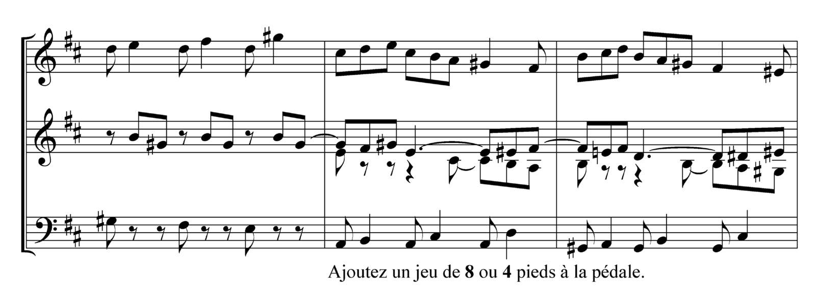 Excerpt of César Franck, Prélude, Fugue & Variation, using Finale and Maestro music font