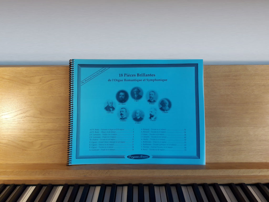 OrganScore on an organ desk
