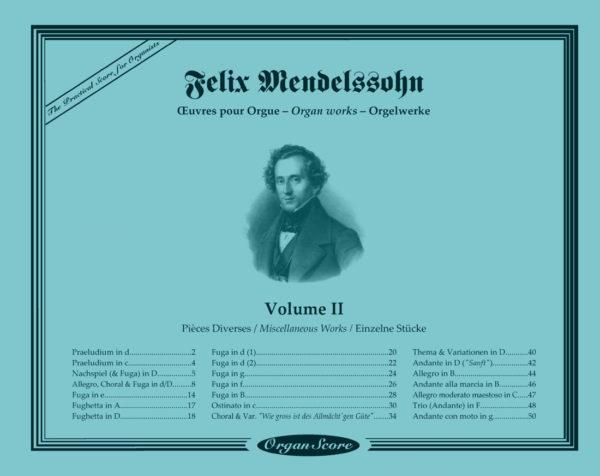 Mendelssohn oeuvres pour orgue (Vol. II) : Pièces Diverses