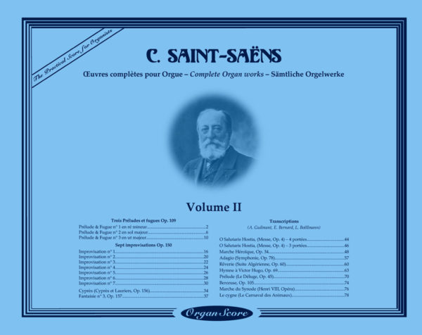 Saint-Saëns Organ Works Volume I Cover